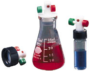 Mininert valves for vials